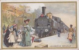 Chromos - Chromo - Chicorée Bériot Lille 59 - Histoire Transports - Chemins De Fer - Locomotive Gare - Enfants Jouets - Té & Café
