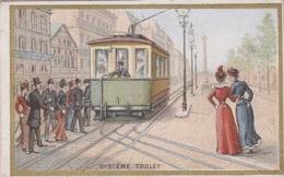 Chromos - Chromo - Chicorée Bériot Lille 59 - Histoire Transports - Chemins De Fer - Trolley Tramway Electrique - Thé & Café