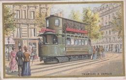 Chromos - Chromo - Chicorée Bériot Lille 59 - Histoire Transports - Chemins De Fer - Tramway à Vapeur - Thé & Café