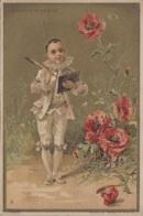"Chromos - Chromo ""Au Bon Marché - Pierrot Coquelicots - 1900 - Chromos"