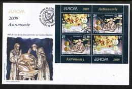 CEPT 2009 RO MI BL 445 II ROMANIA FDC - 2009