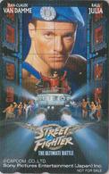 Télécarte Japon / 110-011 - CINEMA Film - JEAN CLAUDE VAN DAMME - STREET FIGHTER - Movie Japan Phonecard - 11235 - Cinéma