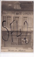 DIJON          CARTE PHOTO  COUTELLERIE DE LANGRES THIEBAUT. - Dijon
