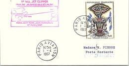 1er VOL 1.4.1967  PAN AMERICAN JET CLIPPER  PARIS-NEW YORK-SAN FRANCISCO  / 4 - Aviones