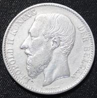 BELGIE  2 FRANK  1887 LEOPOLD II  PRACHTIGE STAAT   -  ZIE 2 AFBEELDINGEN - 1865-1909: Leopold II