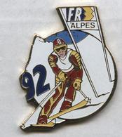 Pin's JO Jeux Olympiques Olympic Games Albertville 1992 FR3 Alpes Média Télévision Ski - Médias
