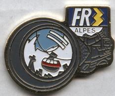 Pin's JO Jeux Olympiques Olympic Games Albertville 1992 FR3 Alpes Média Télévision - Médias