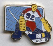 Pin's JO Jeux Olympiques Olympic Games Albertville 1992 FR3 Alpes Média Télévision Hockey - Médias