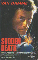Télécarte Japon / 110-011 - CINEMA Film - JEAN CLAUDE VAN DAMME - SUDDEN DEATH * TBE * - Movie Japan Phonecard - 11236 - Cinéma