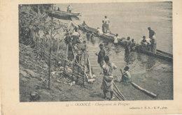 AN 27 / C P A     AFRIQUE-  GABON  -  OGOOUE  CHARGEMENT DES PIROGUES - Gabon