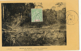 AN 30 / C P A     AFRIQUE-  GABON  - REGION  DU M'BIMOU   PONT SUR LA NYANTANGA  ROUTE DES KOAPOULIS A COMBAKO - Gabon