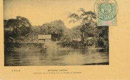 AN 31 / C P A     AFRIQUE-  GABON  -MOYENNE SANGHA  CONFLUENT DE LA N'YOUE AVEC LA SANGHA A LIDJOMOBO - Gabon
