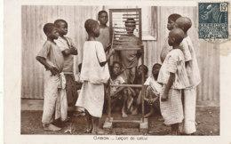 AN 34 / C P A     AFRIQUE-  GABON   -LA LECON DE CALCUL - Gabon