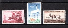 U.s.a. - 1956/57. Wildlife Conservation. Tacchino,Gru, Antilope,  Wild Turkey, Cranes, Antelope. MNH - Kraanvogels En Kraanvogelachtigen