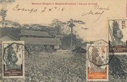 AN 35 / C P A     AFRIQUE-  GABON   - MAISON SARGOS A MAGNA-KOUILLOU CACAO ET CAFE - Gabon