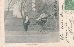 AN 51  / C P A    ASIE- CHINE   CHINESE  RIKSHAW - Chine (Hong Kong)