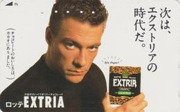 Télécarte Japon / 110-011 - Star CINEMA - JEAN CLAUDE VAN DAMME Pub CHOCOLAT Chocolate - Movie Japan Phonecard - 11238 - Cinéma