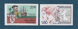 France Timbres De 1984  N°2307/08  Non Dentelé Neufs ** Gomme Parfaite Cote 45€ - France