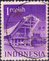INDONESIA 1950 - TEMPIO DI TORAJA - 1 VALORE USATO - Indonesia