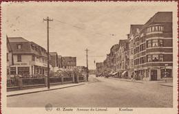 Knokke Knocke Le Zoute Avenue Du Littoral Kustlaan Voiture Oldtimer ZELDZAAM Geanimeerd (In Zeer Goede Staat) - Knokke