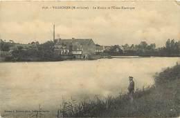 -dpts Div. -ref-AH617- Maine Et Loire - Villechien - Moulin Et Usine Electrique - Moulins A Eau - Usines - Industrie - - France