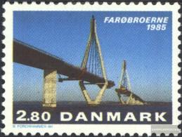 Denmark 839 (complete Issue) Unmounted Mint / Never Hinged 1985 Opening The Faroe-Bridge - Denmark