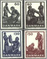 Denmark 631-634 (complete Issue) Unmounted Mint / Never Hinged 1976 Glassmaking - Denmark