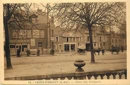 -dpts Div. -ref-AH614- Loire Atlantique - Chateaubriant -place Des Terrasses- Garage Podevin - Garages - Café Du Chateau - Châteaubriant