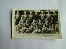LENS - FOOTBALL - RACING CLUB DE LENS 1943 RARE CARTE PHOTO AVEC JOUEURS NOMMES - Football