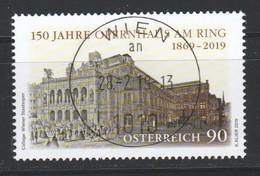 """Österreich 2019: """"150 Jahre Opernhaus Am Ring"""" Gestempelt (siehe Scan) - 1945-.... 2. Republik"""