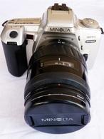 APPAREIL PHOTO MINOLTA 404si + FLASH + SACOCHE + FILTRE - Fototoestellen