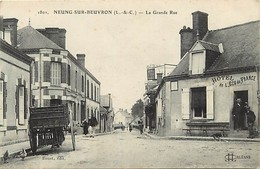 -dpts Div. -ref-AH608- Loir Et Cher - Neung Sur Beuvron - La Grande Rue - Hotel De L Ecu De France - Hotels - - Neung Sur Beuvron