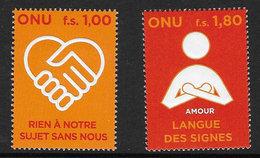 United Nations Geneva 2008 Disabilities Set Unmounted Mint [2/1978/ND] - Geneva - United Nations Office
