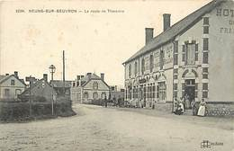 -dpts Div. -ref-AH607-  Loir Et Cher - Neung Sur Beuvron - Route De Tharonne - Hotel De France - Hotels - Carte Bon Etat - Neung Sur Beuvron