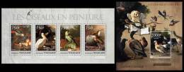 TOGO 2013 - Birds In Painting - YT 3096-9 + BF634; CV=30 € - Togo (1960-...)