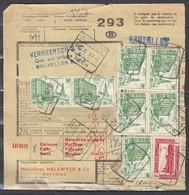 Vrachtbrief Met Stempel Oostende N°27 - 1952-....