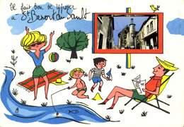36 IL FAIT BON SE REPOSER A  SAINT BENOIT DU SAULT / A 414 - France