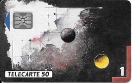 CARTE-PUCE-PRIVEE-PUBLIC-50U-EN 253-SC4an-N°5Ge 34149-12/91-SCHLUMBERGER-TABLEAU J GRASSA-UTILISE-TBE - 50 Unités