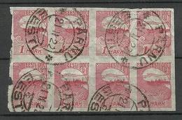 Estland Estonia 1919 Michel 27 Als 8-Block O Pärnu NB! Etwas Geknickt! - Estland