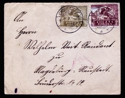 A6126) Polen Poland Brief Chobienice 02.01.21 N. Magdeburg Zensurstempel - 1919-1939 République