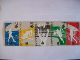 Seychelles:  Timbres N° 656 à 660  (YT) Se Tenant Neufs (sports) - Seychelles (1976-...)
