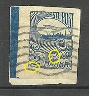 ESTLAND ESTONIA 1920 Michel 17 E: 7 ERROR Abart Variety O - Estland
