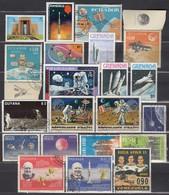 Partie Raumfahrt  Mit 21verschiedenen N-S Amerika  Used **/MNH - Raumfahrt