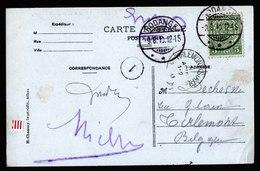 A6128) Luxemburg Ansichtskarte Rodange 09.08.10 N. Belgien - 1907-24 Abzeichen