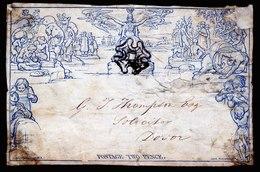 A6129) UK Grossbritannien Vorderseite / Front V. Umschlag 2 Pence Blue - 1840 Mulready-Umschläge