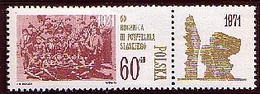 Poland 1971 Mi 2078 Zf  50 Years Of The III Silesian Uprisings. Monument To The Insurgents. MHN** W1176 - Ungebraucht