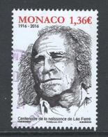 Monaco, Yv 3055 Jaar 2016, Hogere Waarde, Gestempeld - Oblitérés