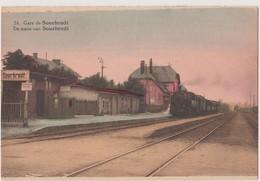 SOURBRODT - GARE-STATIE  Le Train En Gare - Waimes - Weismes