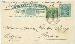 RHODESIA  POST CARD - N. W. Rhodesia - Entier Postal Pour Belgique - Renaix 1910 - Noord-Rhodesië (...-1963)