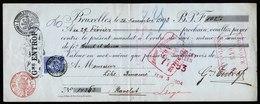 A6130) Belgien Belgium Wechsel Bruxelles 1903 / 1904 M. 25 C Marke - 1893-1900 Schmaler Bart